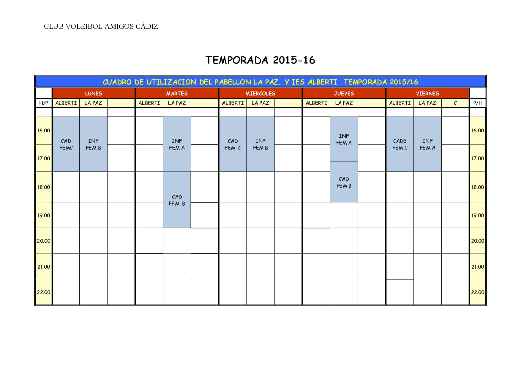 CUADRO DE ENTRENAMIENTO TEMPORADA 2015-16-002